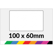 100x60mm Printed Paper or Synthetic Labels