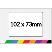 102x73mm Printed Paper or Synthetic Labels