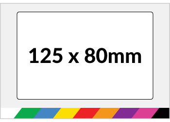125x80mm Printed Paper or Synthetic Labels