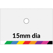 15mm dia Printed Paper or Synthetic Labels