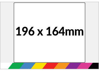 196x164mm Printed Paper or Synthetic Labels