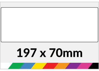 197x70mm Printed Paper or Synthetic Labels