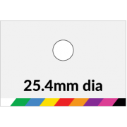 25.4mm dia Printed Paper or Synthetic Labels