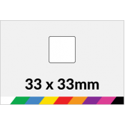 33x33mm Printed Paper or Synthetic Labels