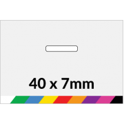 40x7mm Printed Paper or Synthetic Labels