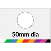 50mm dia Printed Paper or Synthetic Labels