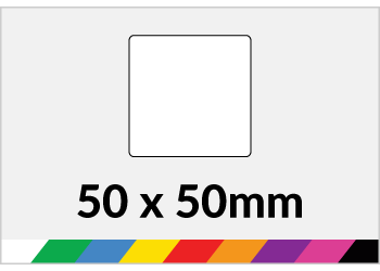 50x50mm Printed Paper or Synthetic Labels