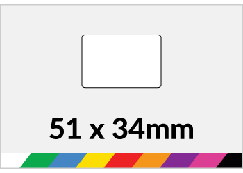 51x34mm Printed Paper or Synthetic Labels