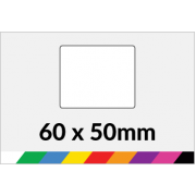 60x50mm Printed Paper or Synthetic Labels