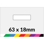 63x18mm Printed Paper or Synthetic Labels