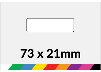 73x21mm Printed Paper or Synthetic Labels