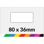 80x36mm Printed Paper or Synthetic Labels