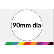 90mm dia Printed Paper or Synthetic Labels