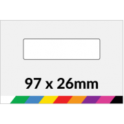 97x26mm Printed Paper or Synthetic Labels